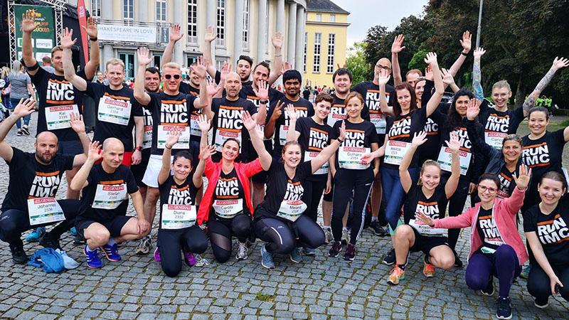 imc employees after a running event