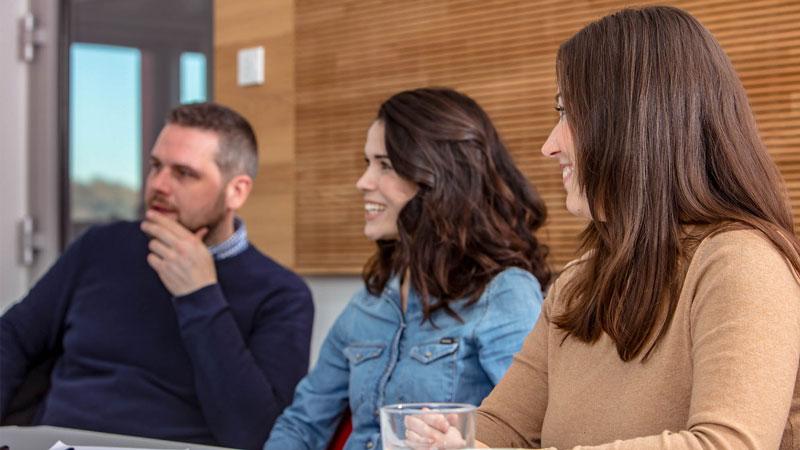 employees in meeting