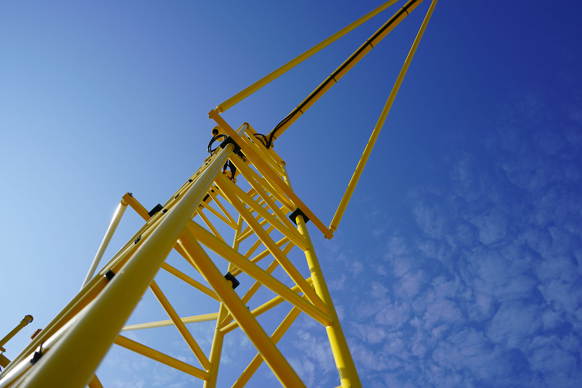 photo of crane against the sky