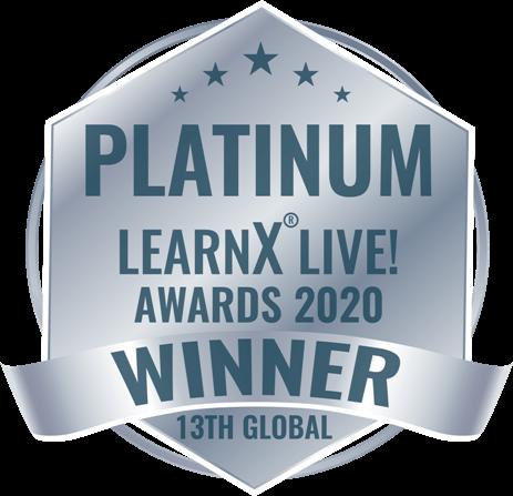 Platinum-award LearnX 2020