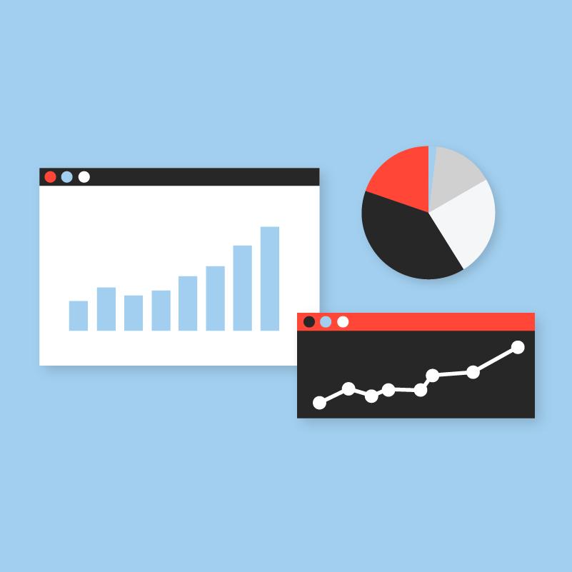 analytics charts and graphs