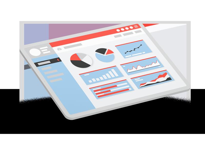 analytics dashboard mockup