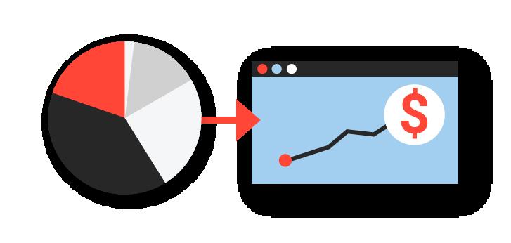 analytics to dollars illustration