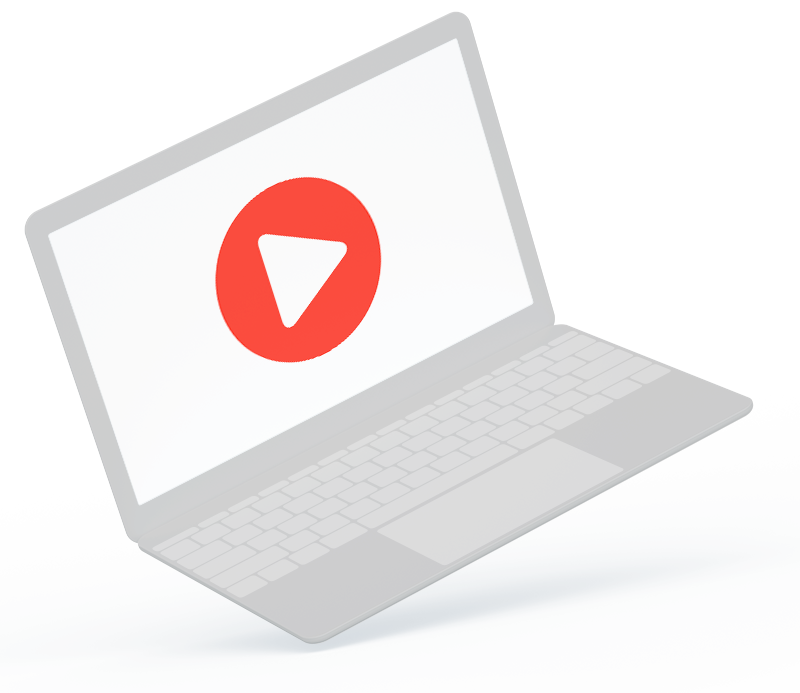 Notebook with a video play button video based learning video based learning