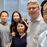 selfie of employees in singapore office